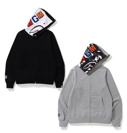 A BATHING APE CITY CAMO SHARK FULL ZIP HOODIE