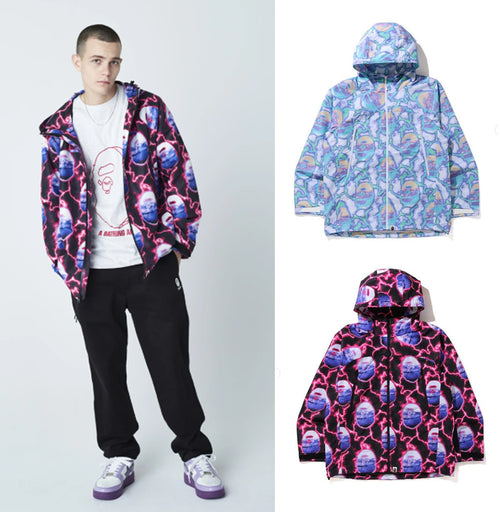 A BATHING APE BAPE LIGHTNING HOODIE JACKET