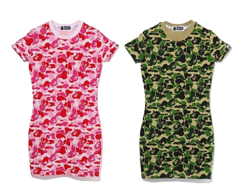 A BATHING APE Ladies' ABC CAMO BODYCON DRESS