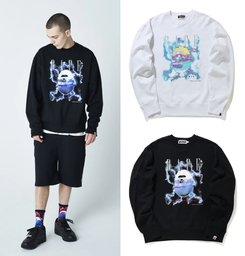 A BATHING APE BAPE LIGHTNING CREWNECK