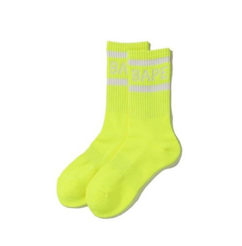 A BATHING APE NEON BAPE SOCKS - happyjagabee store