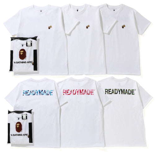 A BATHING APE BAPE x READYMADE 3 PACK TEE