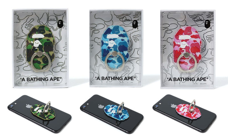 A BATHING APE ABC APE HEAD SMARTPHONE RING - happyjagabee store