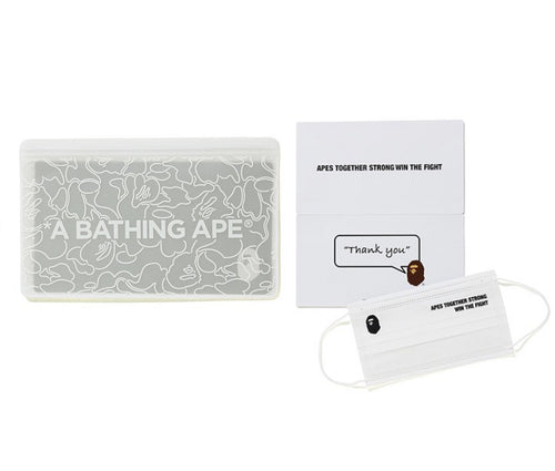 A BATHING APE ABC NEON CAMO CASE & MASK