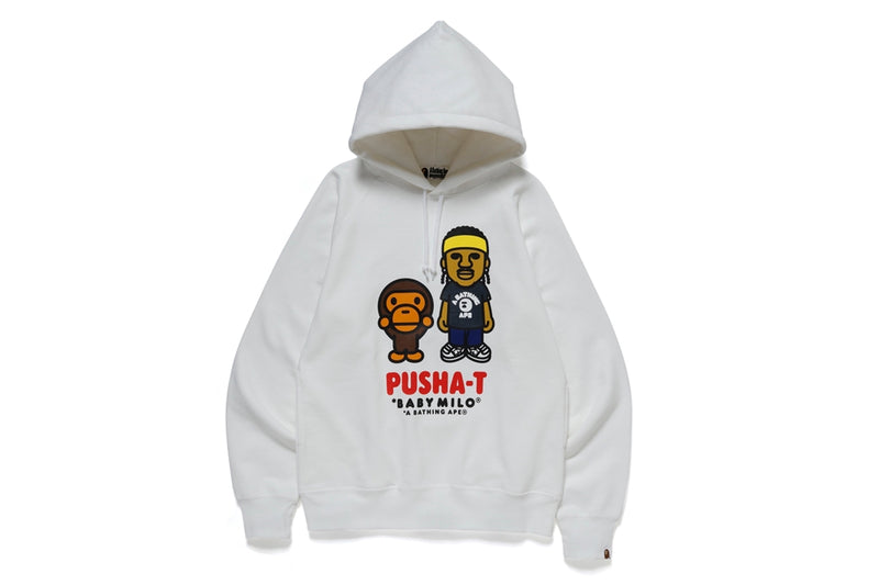 A BATHING APE PUSHA-T x BAPE BABY MILO PULLOVER HOODIE - happyjagabee store