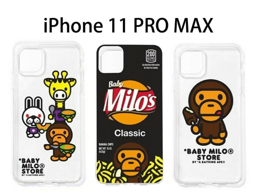 A BATHING APE BABY MILO STORE iPhone SOFT CASE For iPhone11pro MAX