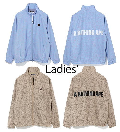 A BATHING APE Ladies' LINE CAMO TRACK JACKET