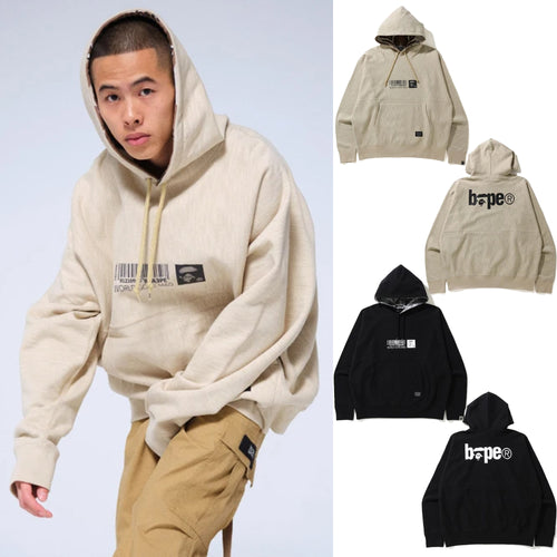 A BATHING APE MILITARY LOOSE FIT PULLOVER HOODIE