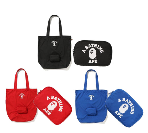 A BATHING APE PACKABLE TOTE BAG