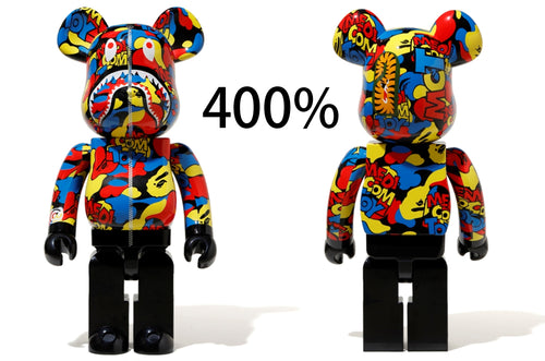 A BATHING APE x MEDICOM TOY CAMO SHARK BE@RBRICK BEARBRICK 400% - happyjagabee store