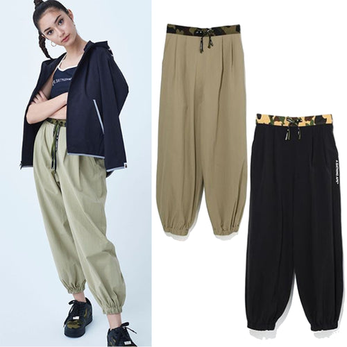 A BATHING APE LADIES' 1ST CAMO BELT STRETCH PANTS - happyjagabee store