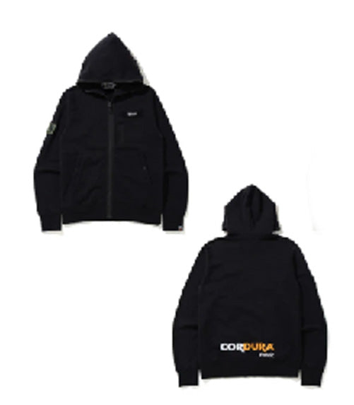 A BATHING APE MILITARY CORDURA FULL ZIP HOODIE