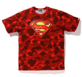 A BATHING APE BAPE × DC SUPERMAN COLOR CAMO TEE