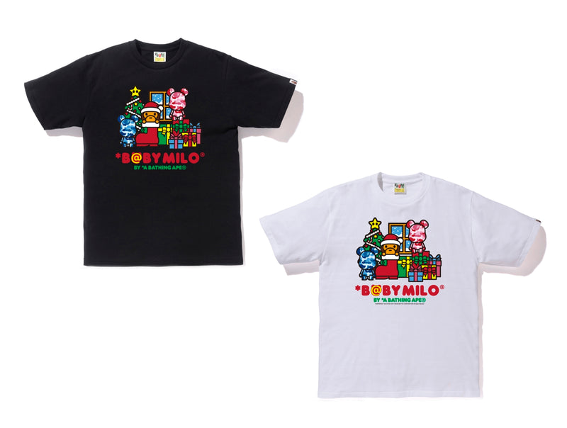 0A BATHING APE x BE@RBRICK CHRISTMAS ABC BE@R TEE - happyjagabee store