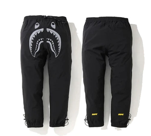 A BATHING APE BAPE REFLECTIVE SHARK 2LAYER PANTS
