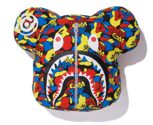 A BATHING APE x MEDICOM TOY CAMO BE@R BEAR CUSHION - happyjagabee store