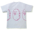A BATHING APE SOLID APE HEAD TEE