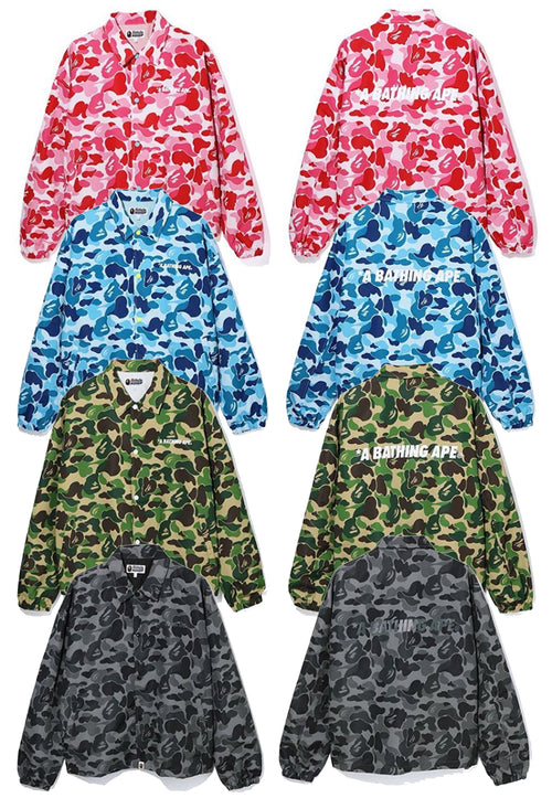 A BATHING APE ABC CAMO RELAXED COACH JACKET - happyjagabee store