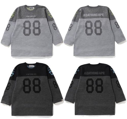 A BATHING APE RELAXED FOOTBALL KNIT - happyjagabee store