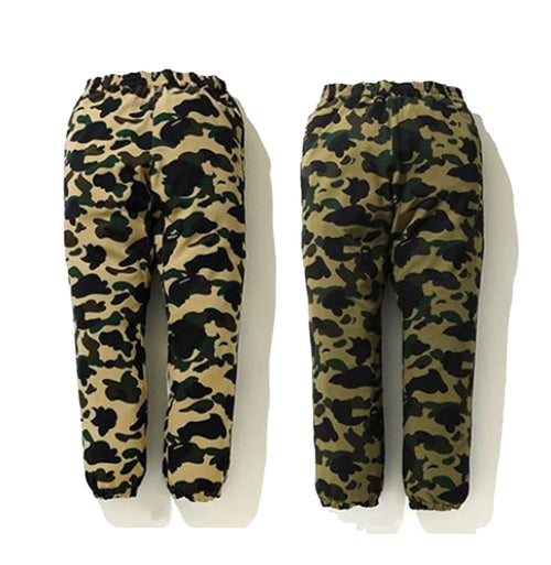 A BATHING APE 1ST CAMO STRETCH TRACK PANTS