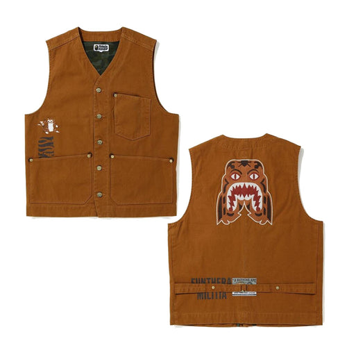A BATHING APE TIGER WORK VEST - happyjagabee store