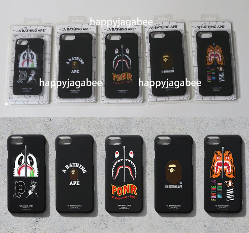 A BATHING APE iPhone 8 / 8 Plus CASE SHARK / PANDA / TIGER / COLLEGE - happyjagabee store