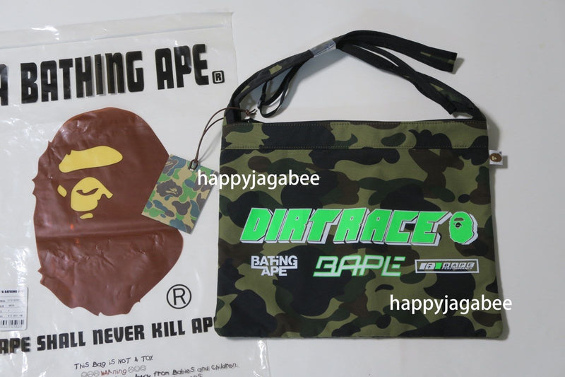 A BATHING APE DIRTRACE 1ST CAMO BMX SACOCHE Shoulder Bag - happyjagabee store
