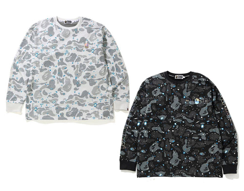 A BATHING APE RELAXED SPACE CAMO L/S TEE
