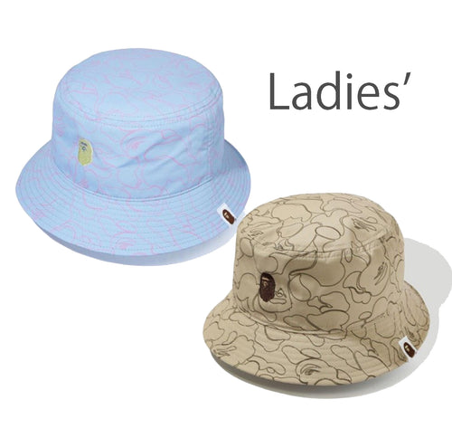 A BATHING APE Ladies' LINE CAMO BUCKET HAT
