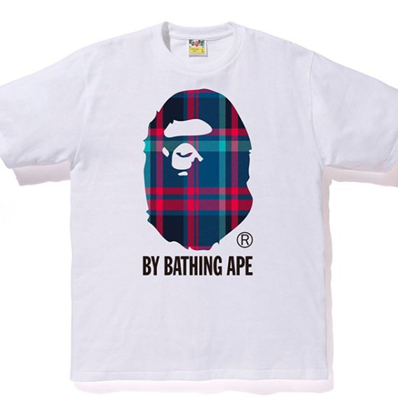 A BATHING APE BAPE CHECK BY BATHING TEE - happyjagabee store