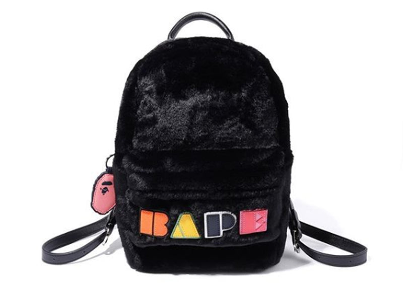 A BATHING APE LADIES' BAPE APPLIQUE BOA DAYBAG - happyjagabee store