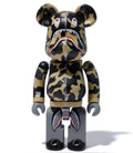A BATHING APE 1ST CAMO SHARK CHOGOKIN BE@BRICK Green & Yellow 2 pc Set - happyjagabee store