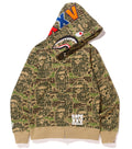 Sale! A BATHING APE BAPE XXV CITIES CAMO SHARK FULL ZIP HOODIE 25TH ANNIVERSARY - happyjagabee store
