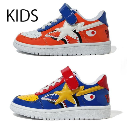 A BATHING APE BAPE KIDS SHARK BAPE STA LOW