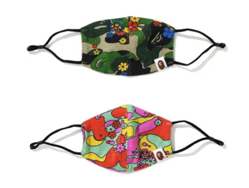 A BATHING APE Ladies' ABC CAMO FLOWER MASK