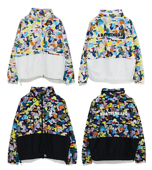 A BATHING APE Ladies' MULTI CAMO WIDE CROPPED JACKET