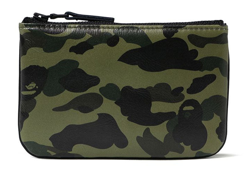 A BATHING APE 1ST CAMO LEATHER WALLET (S) - happyjagabee store