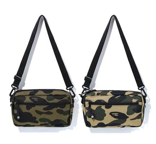 A BATHING APE 1ST CAMO CORDURA MINI SHOULDER BAG