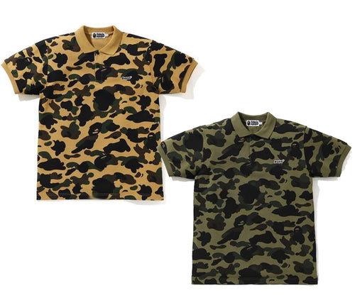 A BATHING APE 1ST CAMO BAPE PATCHED POLO