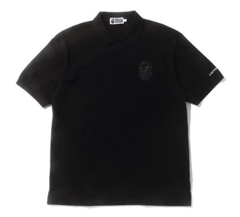 A BATHING APE RELAXED MULTI COLOR CRYSTAL STONE POLO - happyjagabee store