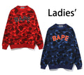 A BATHING APE LADIES' COLOR CAMO BAPE OVERSIZED CREWNECK - happyjagabee store