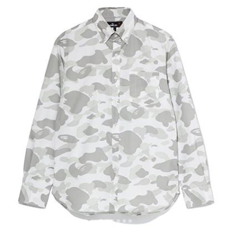 A BATHING APE MR. BATHING APE MR. CAMO BD SHIRT - happyjagabee store