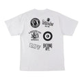 A BATHING APE APE HEAD MULTI PRINT TEE