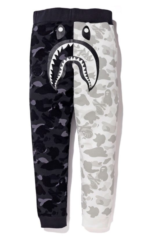 A BATHING APE x NEIGHBORHOOD BAPE NBHD CAMO SHARK SLIM SWEAT PANTS - happyjagabee store
