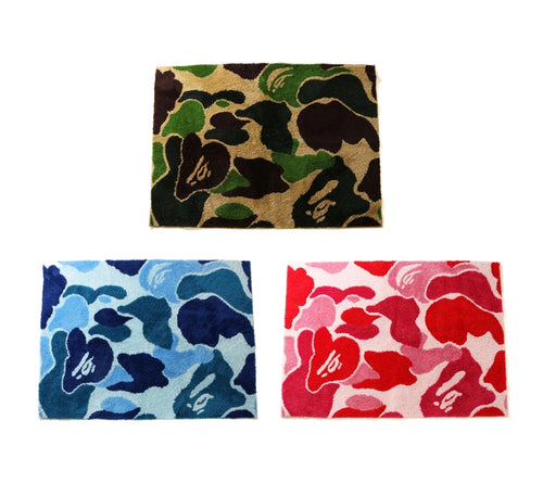 A BATHING APE ABC CAMO RUG MAT