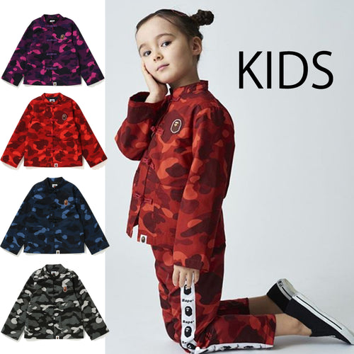 A BATHING APE BAPE KIDS COLOR CAMO CHINA JACKET
