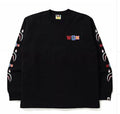 A BATHING APE WGM SHARK RELAXED L/S TEE