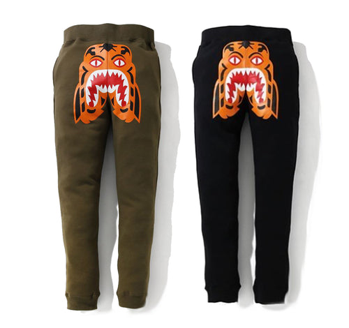 A BATHING APE TIGER SLIM SWEAT PANTS