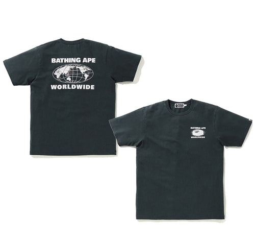 A BATHING APE WORLDWIDE OVERDYE TEE