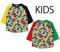 A BATHING APE BAPE KIDS BABY MILO ALPHABET 3/4 SLEEVE TEE